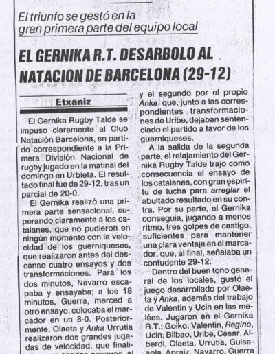 Gernika Rugby Talde 1985-86 Prentsa 0002