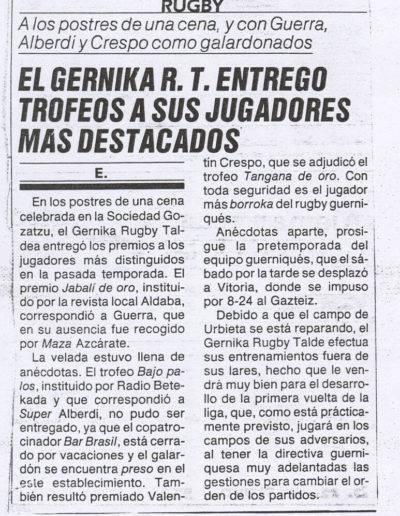 Gernika Rugby Talde 1985-86 Prentsa 010
