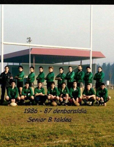 Gernika Rugby Talde 1986-87 GRT Senior B 2